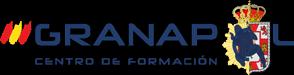 Logotipo emblema de Granapol. Academia especializada en oposiciones y preparación a Guardia Civil y Policía Nacional en Granada, Almería, Jaén y Málaga