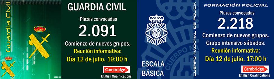 Reunión informativa Policía Nacional y Guardia Civil